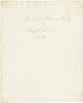 Journal and Plans of Survey by Joseph Treat 1820 by Joseph Treat