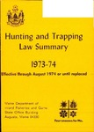 Maine Hunting and Trapping Law Summary, 1973-74 by Maine Department of Inland Fisheries and Game