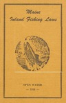 Maine Inland Fishing Laws, Open Water 1953 by Maine Department of Inland Fisheries and Game