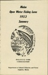 Maine Open Water Fishing Laws 1953 Summary by Maine Department of Inland Fisheries and Game