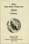 Maine Open Water Fishing Laws 1956 Summary by Maine Department of Inland Fisheries and Game