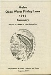 Maine Open Water Fishing Laws 1963 Summary by Maine Department of Inland Fisheries and Game