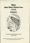 Maine Open Water Fishing Laws 1965 Summary by Maine Department of Inland Fisheries and Game