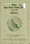 Maine Open Water Fishing Laws 1970 Summary by Maine Department of Inland Fisheries and Game