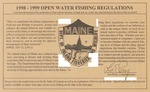 1998-1999 Maine Open Water Fishing Regulations by Maine Department of Inland Fisheries and Wildlife