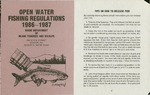 Maine Open Water Fishing Regulations 1986-1987 by Maine Department of Inland Fisheries and Wildlife