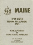 Maine Open Water Fishing Regulations, 1983 by Maine Department of Inland Fisheries and Wildlife