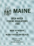 Maine Open Water Fishing Regulations, 1984 by Maine Department of Inland Fisheries and Wildlife