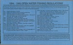 Maine Open Water Fishing Regulations, 1994-1995 by Maine Department of Inland Fisheries and Wildlife