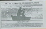 Maine Open Water Fishing Regulations, 1996-1997 by Maine Department of Inland Fisheries and Wildlife
