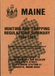 Maine Hunting and Trapping Regulations Summary, 1984-1985