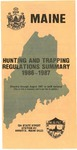 Hunting and Trapping Regulations Summary, 1986-1987