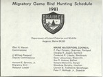 Migratory Game Bird Hunting Schedule, 1981