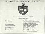 Migratory Game Bird Hunting Schedule, 1981