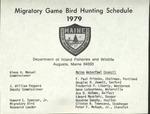 Migratory Game Bird Hunting Schedule, 1979