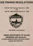 Ice Fishing Regulations, 1997-1998 / 1998-1999