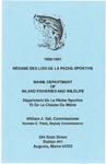 Resume Des Lois De La Peche Sportive, 1990/1991
