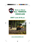 Maine All Terrain Vehicle 2007 Laws & Rules