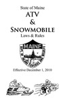 Maine ATV & Snowmobile Laws & Rules Effective December 1, 2010