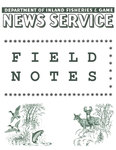 Field Notes - October 1, 1964 by Maine Department of Inland Fisheries and Game