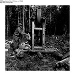 General - Wood Splitting Machine at Chamberlain Lake by Maine Departmentof Inland Fisheries and Wildlife