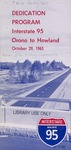 Dedication Program Interstate 95 : Orono to Howland, October 29, 1965 by Maine Highway Commission