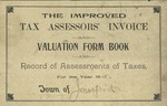 Town of Jonesport 1915 Tax Assessors' Invoice and Valuation Form Book and Record of Assessments of Taxes