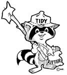 Tidy the Raccoon Illustration