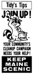 Tidy's Tips : Join Up! by Keep Maine Scenic Committee and Maine Department of Conservation