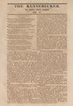 The Kennebecker : November 12, 1829 by Henry Knox Baker