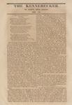 The Kennebecker : November 19, 1829 by Henry Knox Baker
