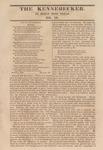The Kennebecker : November 26, 1829 by Henry Knox Baker