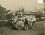 Horse and Cart Decorated for a Parade