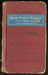 Maine Central Railroad Engineering Note Book No 256