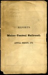 Maine Central 1872 Annual Report