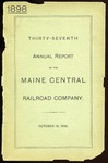Maine Central 1898 Annual Report