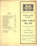 Maine Central Portland Division Employee Time Table No50 by Maine Central Railroad