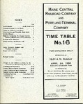 Maine Central Employee Time Table Number 16 by Maine Central Railroad
