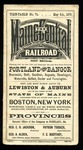 Maine Central Time Table May 5th 1879