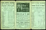 Maine Central Time Table June 6th 1883