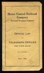 Maine Central Telegraph Circuits 1925 by Maine Central Railroad
