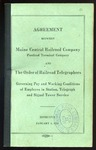 Agreement between Maine Central, PT and Order of Telegraphers by Maine Central Railroad