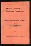 Maine Central & Portland Terminal - Government of Telegraphers 1907