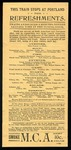 MEC Portland Restraunt Menu and Fare Table by Maine Central Railroad