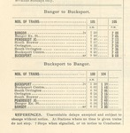 Maine Central Febuary 1895 time table extract