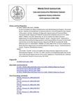 Legislative History: Joint Order, That Bill,