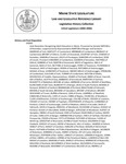 Legislative History:  Joint Resolution Recognizing Adult Education in Maine (SP845)