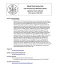 Legislative History:  An Act To Lower Energy Costs and Increase Renewable Energy in Maine (HP1529)(LD 2149)