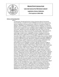 Legislative History:  Joint Resolution Recognizing Parkinson's Disease Awareness Month (SP670)