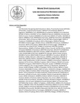 Legislative History:  Joint Resolution Recognizing Adult Education in Maine (SP700)